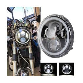 OVOTOR ホンダバイクCB4007インチLEDヘッドライト ホーネット250/900対応 DRL機能 イカリング付き Hi/Loビーム 50W