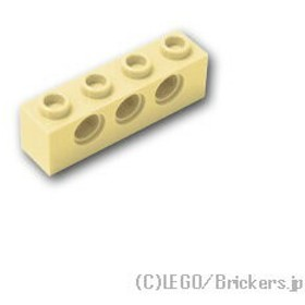 レゴ テクニック パーツ ばら売り テクニック ブロック 1 x 4 - 穴3:タン   lego 部品