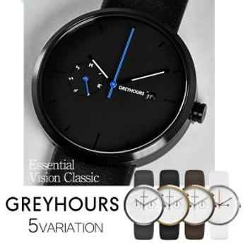 GREYHOURS グレイアワーズ Vision Classic Essential 北欧 クロノグラフ ミニマルデザイン メンズ レディース ユニセックス 時計 腕時計