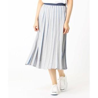 COMME CA / コムサ カラージャージプリーツスカート