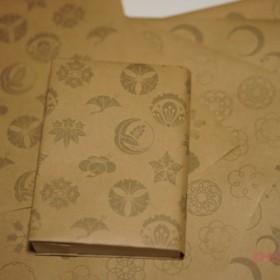 紙製ブックカバー 家紋2