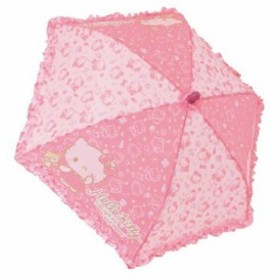【送料無料】フリルキッズ傘 キティ スリープ ピンク 40cm 60013 ジェイズプランニング 子供用かさ