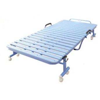 軽くて扱いやすいプラスチック製♪ 折りたたみベッド シングル 【送料無料】 キャスター付き ハイタイプ すのこベッド 折り畳み 安い 激