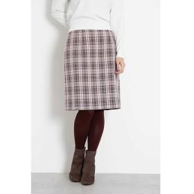 PROPORTION BODY DRESSING / プロポーションボディドレッシング  ベロアベルトグレンチェックタイトスカート