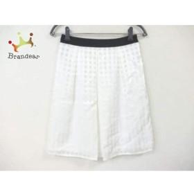 インディビ INDIVI スカート サイズ36 S レディース 美品 白×黒            値下げ 20190516