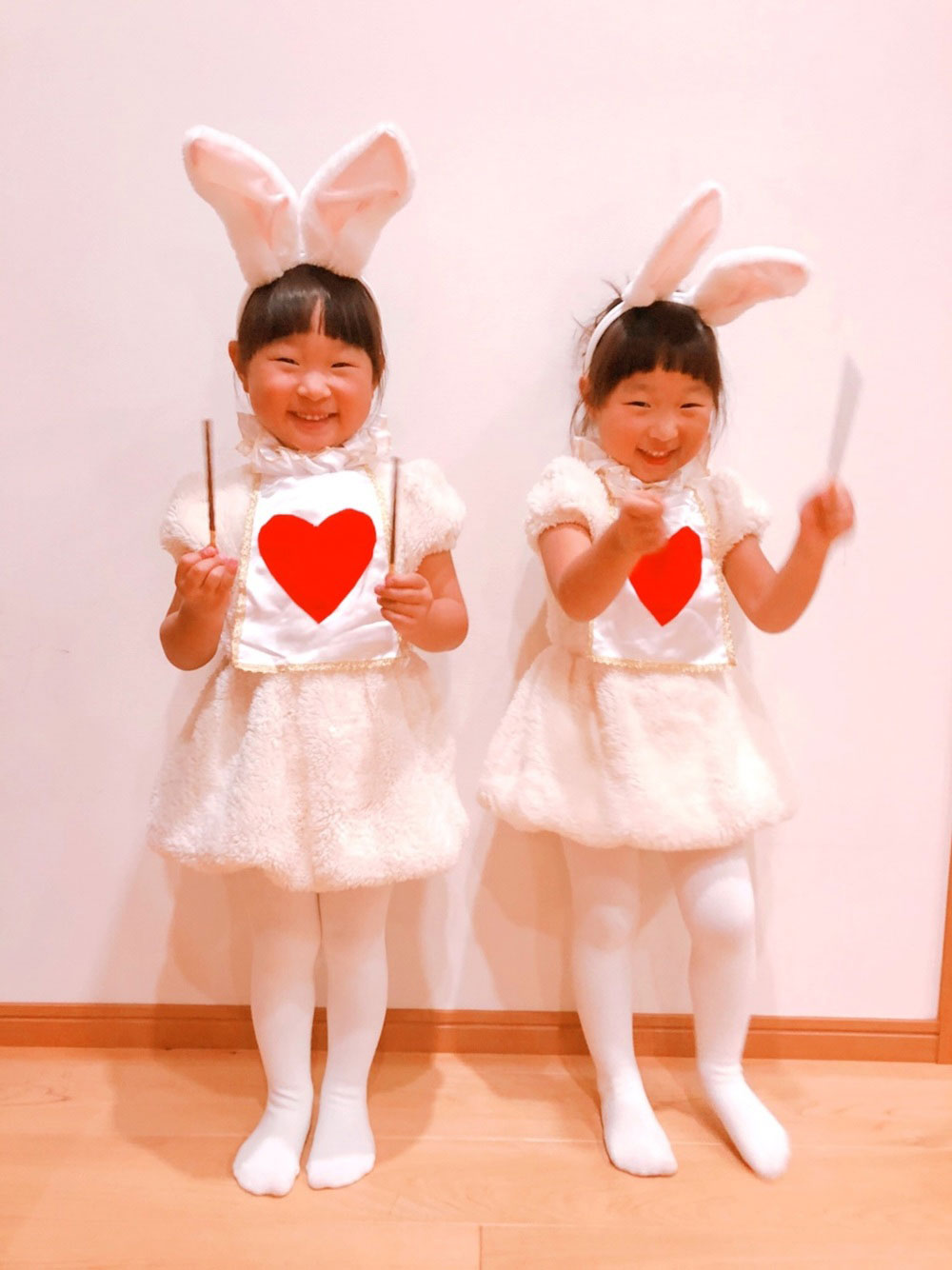 白ウサギの二人コーデ