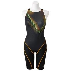 MIZUNO SHOP [ミズノ公式オンラインショップ] 競泳用ハーフスーツ(オープン)[レディース] 94 ブラックxオレンジ N2MG8747