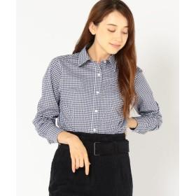 PrimaryNavyLabel チェックシャツ レディース