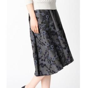 LUMINOSO COMMECA / ルミノーゾ・コムサ スエード花刺繍スカート