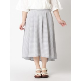 【大きいサイズレディース】【LL-3L】ゆったりサイズ!ギンガムチェック柄フィッシュテールスカート スカート フレアスカート