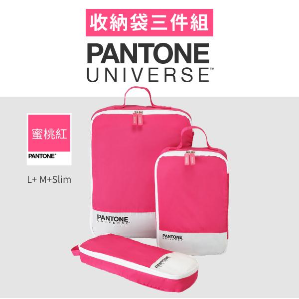 PANTONE 蜜桃紅-色票收納袋三件組 (L+M+Slim)