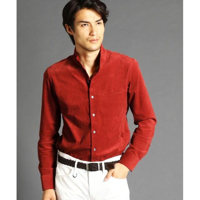 ムッシュニコル コーデュロイスタンドカラーシャツ メンズ 10オレンジ 50(LL) 【MONSIEUR NICOLE】