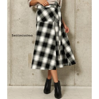 【セール開催中】ANAP(アナップ)サイドスリット切替デザイン巻きスカート