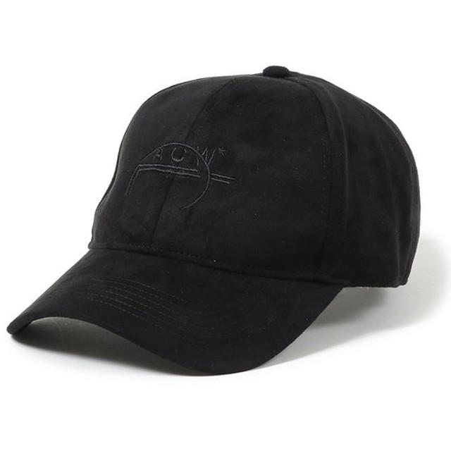 A-Cold-Wall アコールドウォール CLASSIC ACW SUEDE LOGO CAP CW8FMY20AP PE001 CP4 スウェード ロゴ キャップ BLACK/ブラック メンズ