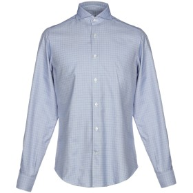 《9/20まで! 限定セール開催中》CALIBAN メンズ シャツ ブルー II コットン 100%
