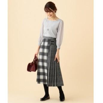 S size ONWARD(小さいサイズ) / エスサイズオンワード シャギーチェックプリント スカート