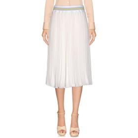 《セール開催中》BLUGIRL BLUMARINE レディース ひざ丈スカート ホワイト 44 ポリエステル 100%
