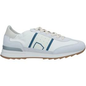 《セール開催中》PHILIPPE MODEL メンズ スニーカー&テニスシューズ(ローカット) アイボリー 45 羊革(ラムスキン) 90% / ポリ塩化ビニル 10%