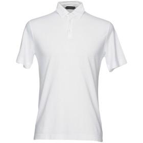 《期間限定セール開催中!》ZANONE メンズ ポロシャツ ホワイト 54 コットン 100%