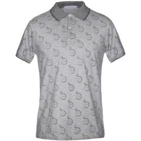 《送料無料》HAMAKI-HO メンズ ポロシャツ グレー M コットン 100%