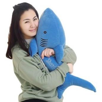 サメぬいぐるみ可愛いふわふわやわらかい萌え萌え癒しストレス解消プレゼントギフト赤ちゃん子供贈り物店飾り抱き枕60cm