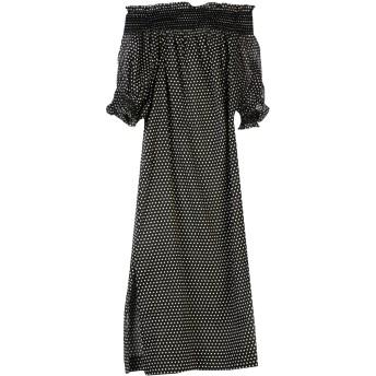 《セール開催中》LISA MARIE FERNANDEZ レディース 7分丈ワンピース・ドレス ブラック 1 コットン 100%