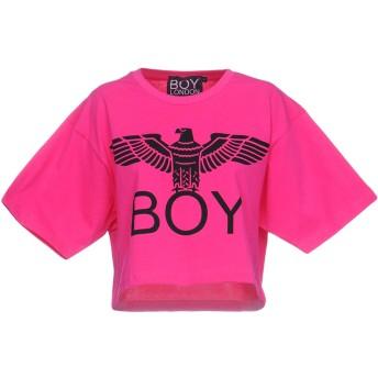 《期間限定セール開催中!》BOY LONDON レディース T シャツ フューシャ L コットン 100%