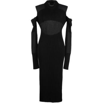 《セール開催中》CALVIN KLEIN 205W39NYC レディース 7分丈ワンピース・ドレス ブラック S コットン 70% / レーヨン 28% / ポリエステル 2%