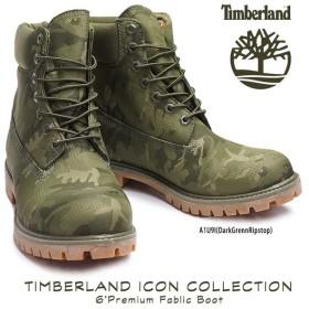 ティンバーランド カモ柄 アイコン シックスインチ プレミアム ファブリック ブーツ 防水 コレクション A1U9I