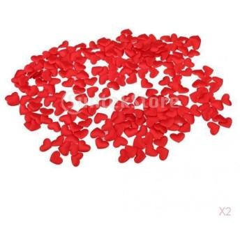 200pcsの赤いハートの花びらの花の結婚式の婚約パーティーのテーブルデコレーション