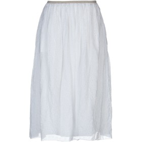 《9/20まで! 限定セール開催中》POMANDRE レディース 7分丈スカート ホワイト 40 100% コットン