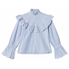ブラウス シャツ キッズ 女の子【How To Kiss A Frog Blue Stripe Mazi Blouse】