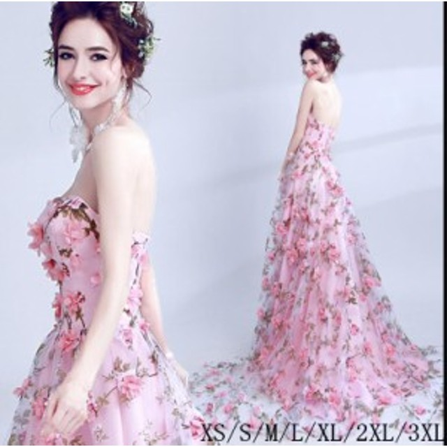 b19fce9d7535f ベアトップ ウェディングドレス 大きいサイズ ブライダルドレス 結婚式 ロングドレス 二次会 花嫁 披露宴 パーティー