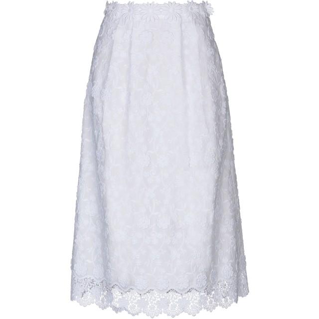 《期間限定セール開催中!》PICCIONE. PICCIONE レディース 7分丈スカート ホワイト 38 100% コットン
