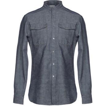《期間限定セール開催中!》KENT & CURWEN メンズ デニムシャツ ブルー S 100% コットン
