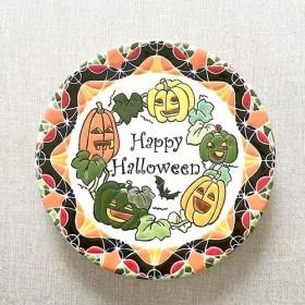 スペインタイルアート:ハロウィーンのお皿(M)