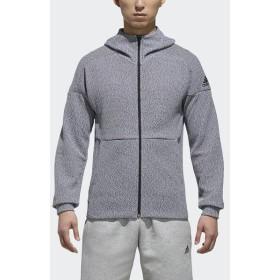 (セール)adidas(アディダス)メンズスポーツウェア ジャケット M ID デニット フルジップパーカー FKJ83 DN1464 メンズ ホワイト/ブラック