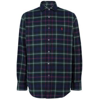 《期間限定 セール開催中》POLO RALPH LAUREN メンズ シャツ ダークグリーン S コットン 100% Classic Fit Plaid Shirt