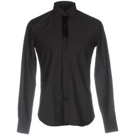 《期間限定 セール開催中》XACUS メンズ シャツ ブラック 39 コットン 100%
