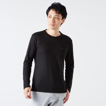 MIZUNO SHOP [ミズノ公式オンラインショップ] クルーネック長袖シャツ[メンズ] 09 ブラック B2JA8503