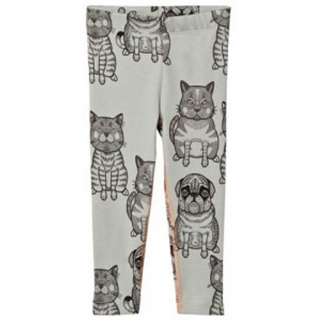 レギンス スパッツ キッズ 女の子【Filemon Kid Leggings Cats + Pug Sage Desert Sage】