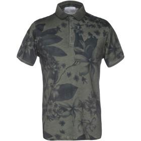 《送料無料》HAMAKI-HO メンズ ポロシャツ ミリタリーグリーン S 100% コットン