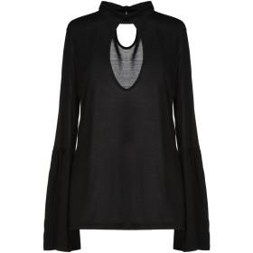 《期間限定セール開催中!》HAUTE HIPPIE レディース T シャツ ブラック XS レーヨン 100%