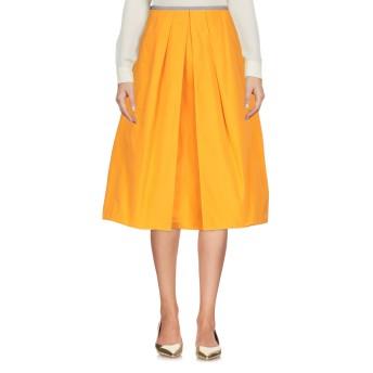 《セール開催中》JIL SANDER NAVY レディース 7分丈スカート オレンジ 38 100% ポリエステル