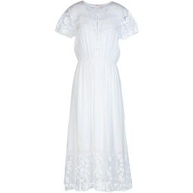 《セール開催中》BLUGIRL BLUMARINE レディース 7分丈ワンピース・ドレス ホワイト 38 100% レーヨン ポリエステル