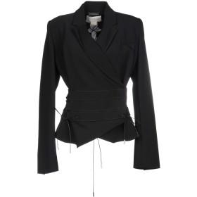 《セール開催中》ANTONIO BERARDI レディース テーラードジャケット ブラック 38 87% レーヨン 9% ポリエステル 4% ポリウレタン