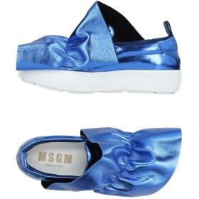 《送料無料》MSGM レディース スニーカー&テニスシューズ(ローカット) ブルー 35 革