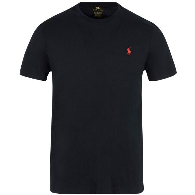 《期間限定セール開催中!》POLO RALPH LAUREN メンズ T シャツ ブラック XS コットン 100% Custom Fit T shirt