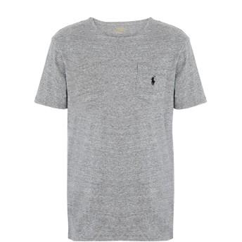 《9/20まで! 限定セール開催中》POLO RALPH LAUREN メンズ T シャツ グレー XL コットン 100% Custom Fit T shirt