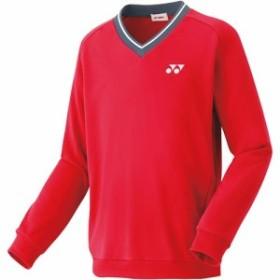 ヨネックス(YONEX) キッズ テニス 厚手 トレーナー サンセットレッド 32026J 496 【テニスウェア バドミントンウェア スポーツウェア